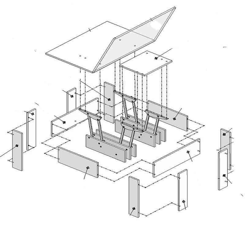 Мебель трансформер схема сборки