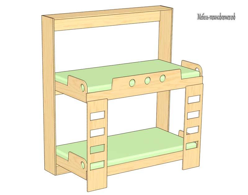 Как сделать двухъярусную кровать своими руками трансформер 36