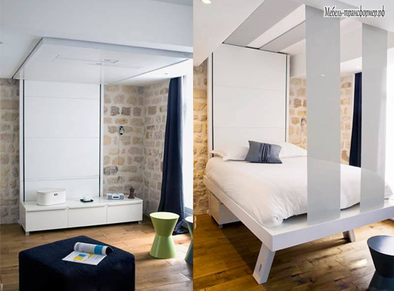 Подъемная кровать под потолок как сделать