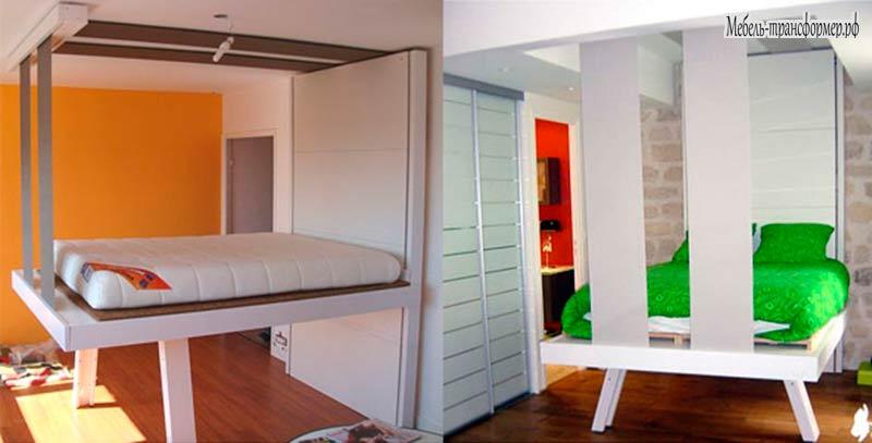 Кровать потолочный