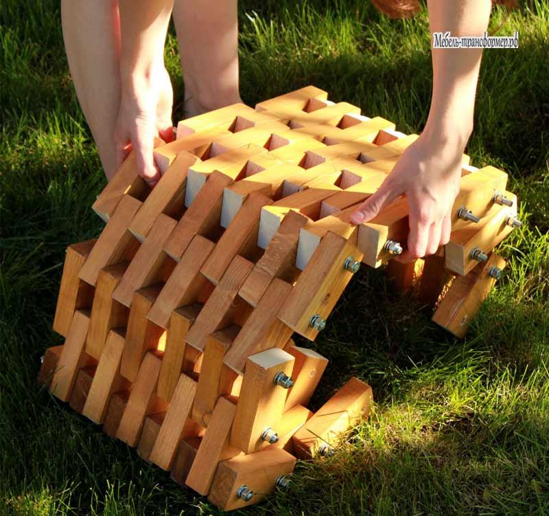 Поделки из деревянных брусков 79