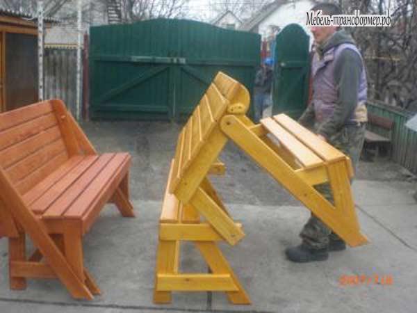 Скамейка трансформер своими руками из дерева видео