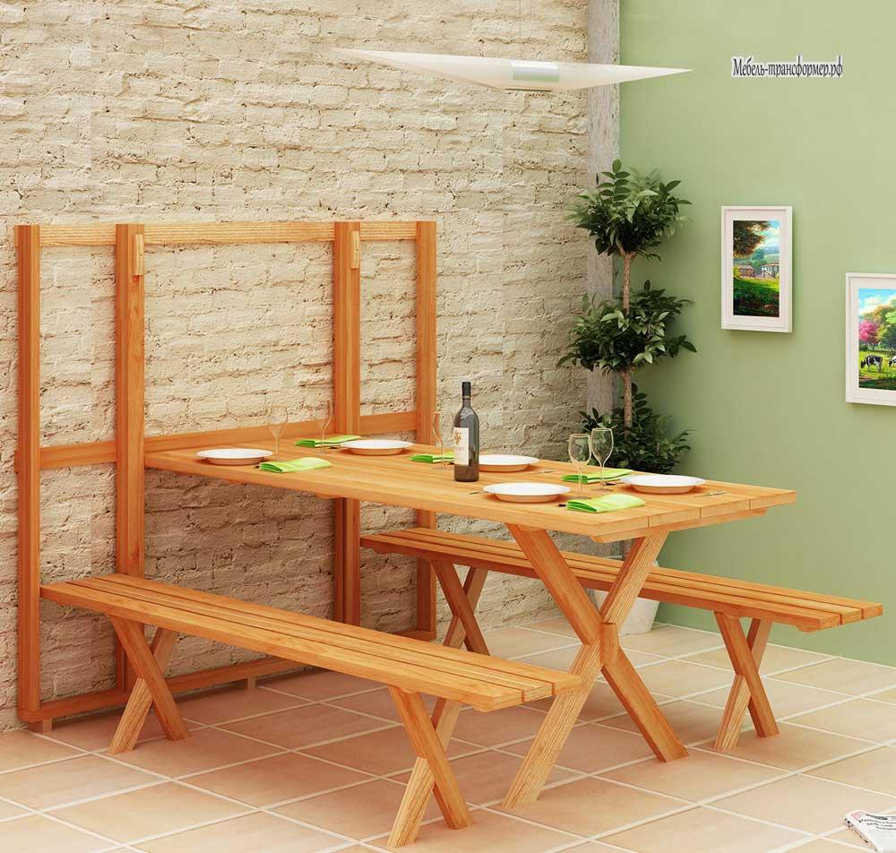 Скамейка из дерева на кухню своими руками