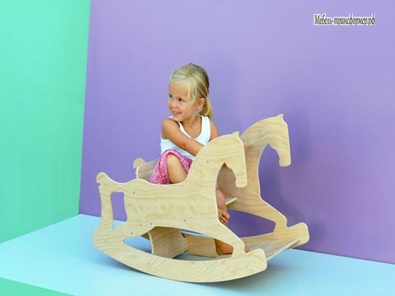 Детская лошадка из фанеры