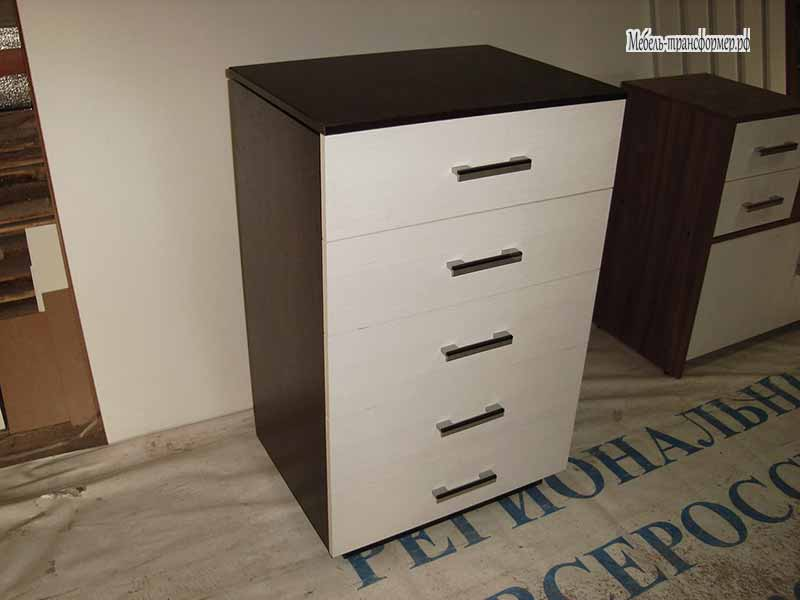 Компьютерный стол в комоде - стол трансформер - мебель-транс.