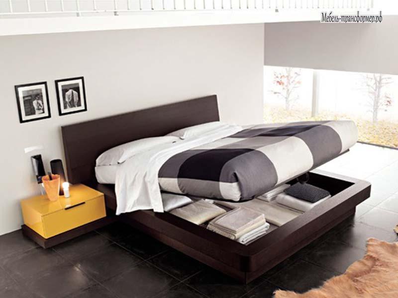 Кровати с парящим эффектом с подъемным механизмом