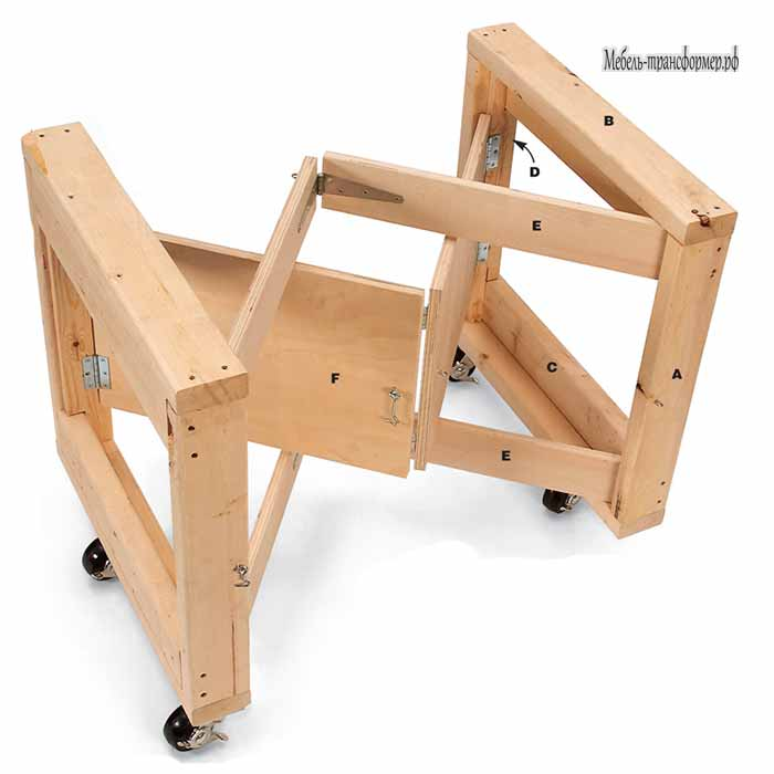 складной верстак своими руками стол трансформер мебель